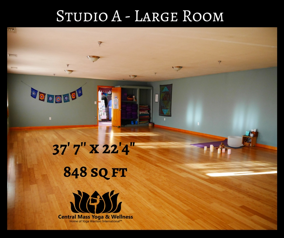 Large Yoga Studio , Central Mass Yoga,